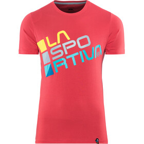 La Sportiva Square T-Shirt Heren, cardinal red